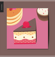 simple things - dessert vector image vector image