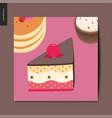 simple things - dessert vector image