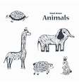 Sketch of Black and White Animals vector image vector image
