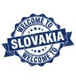 slovakia round ribbon seal vector image vector image