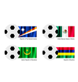 Soccer Ball of Marshall Islands Mexico Maurita vector image vector image