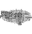 states word cloud concept vector image vector image