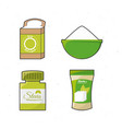 stevia natural sweetener leaves and differents vector image vector image