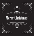 stylish merry christmas card vector image