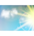 Sunny natural background vector image vector image