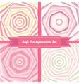 vortex abstract backgrounds set in sweet pastel vector image vector image