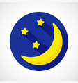 weather night moon icon vector image