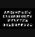 white of stylized modern font and alphabet vector image vector image