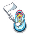 with flag sneaker mascot cartoon style vector image