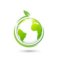 world environmental and ecology friendly design vector image