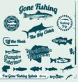 Gone Fishing Labels vector image