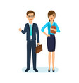 office employee with documents in hand vector image