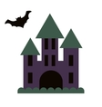 Dark gloomy castle and flying bat vector image