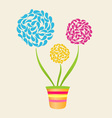 Abstract Flower In Pot vector image