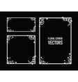 black floral corners background vector image