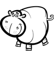 Hippo or Hippopotamus for coloring book vector image