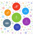 7 antique icons vector image vector image