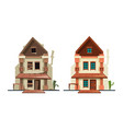 abandoned house repair old building exterior vector image