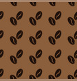 abstract coffee beans pattern brown background vector image