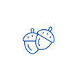 acorn line icon concept acorn flat symbol vector image vector image