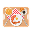appetizing delicious breakfast of coffee vector image vector image