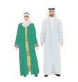 Arabic man male and woman female together in vector image vector image