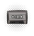 Audio cassete comics icon vector image vector image
