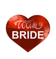 bachelorette party team bride text and red vector image vector image