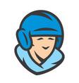 baseball player sign vector image