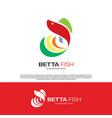 betta hobfish logo template design vector image