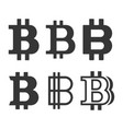 bitcoin sign icons set vector image vector image