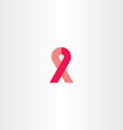 breast cancer icon awareness red ribbon vector image vector image