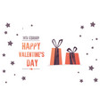 bright sales flyer with gifts for valentines day vector image vector image