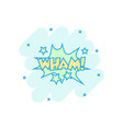 cartoon wham comic sound effects icon in comic vector image