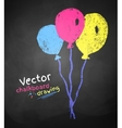 Chalk drawing of balloons vector image vector image