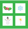 christmas mistletoe symbols of winter holiday vector image vector image