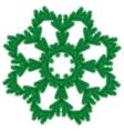Christmas pine garland vector image vector image