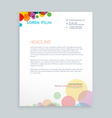 creative colorful circles letterhead design vector image vector image