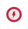 danger energy icon vector image