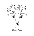 Dear Deer simple Logo vector image