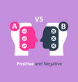 decision making pros and cons versus concept vector image vector image