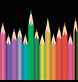 different sized and colored pencils vector image vector image