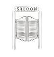 doodle saloon vector image vector image