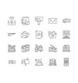 emails and mails line icons signs set vector image