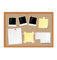 empty photo frames paper notes vector image vector image