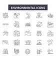 environmental line icons signs set vector image vector image