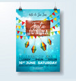 festa junina party flyer with vector image vector image