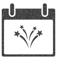 Fireworks Calendar Day Grainy Texture Icon vector image vector image