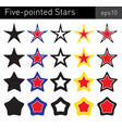 five-pointed stars vector image