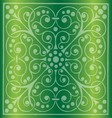 Floral Pattern on a Green Background vector image vector image